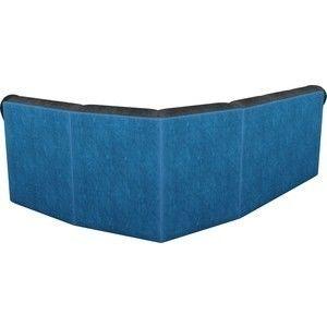 Диван ЛигаДиванов Карнелла угол правый велюр черный/голубой - фото 5