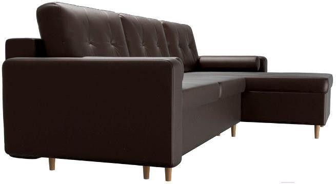 Диван Mebelico Белфаст 492 правый 59062 экокожа коричневый - фото 6