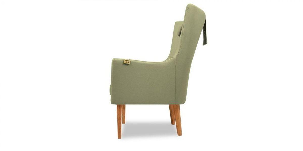 Кресло WOWIN Элеганза высокое (Серо-бежевая микророгожка) - фото 3
