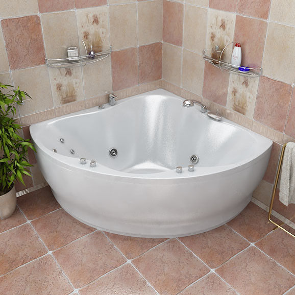 Установка ванны нестандартной формы