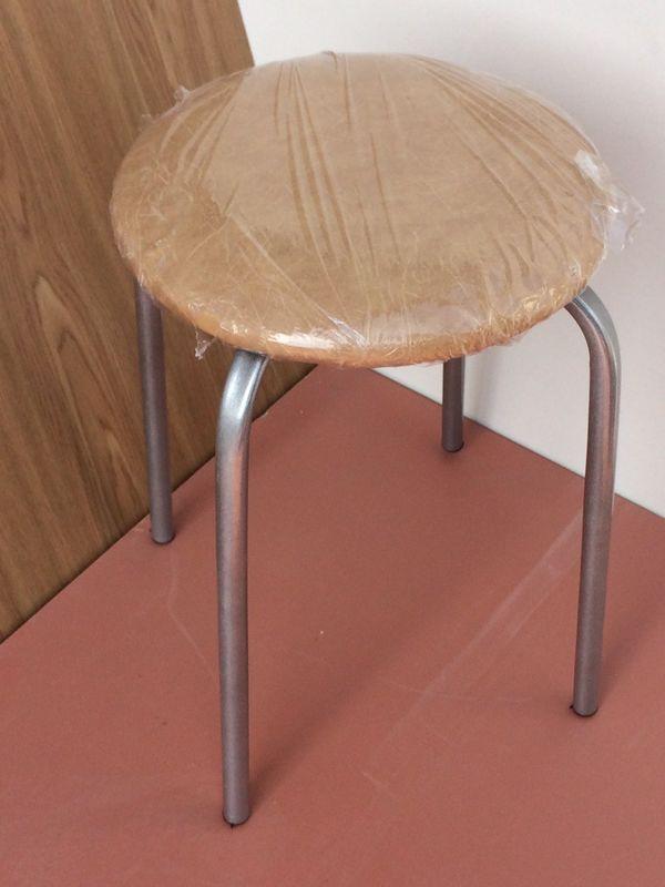 Кухонный стул Алвест Эконом бежевый/серебро - фото 1