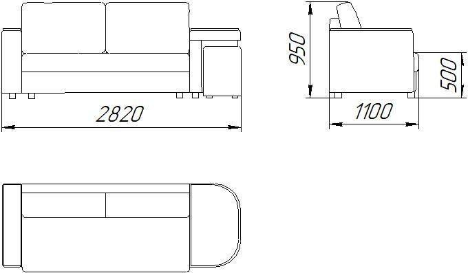 Диван ZMF Арбат Люкс (ПБ, коричневый) - фото 5