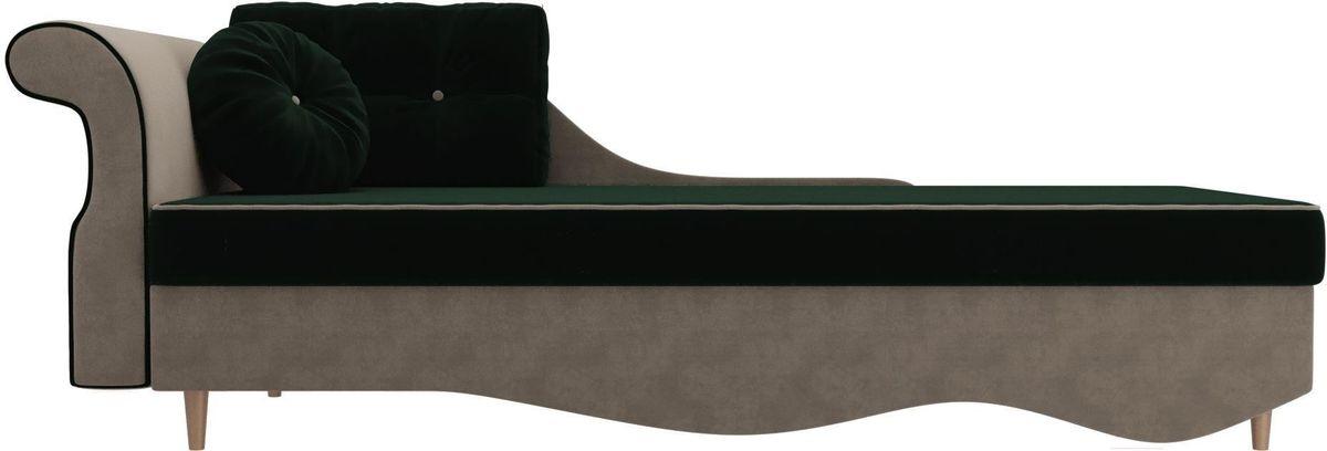 Диван Mebelico Лорд левый 101217 велюр зеленый/бежевый - фото 2