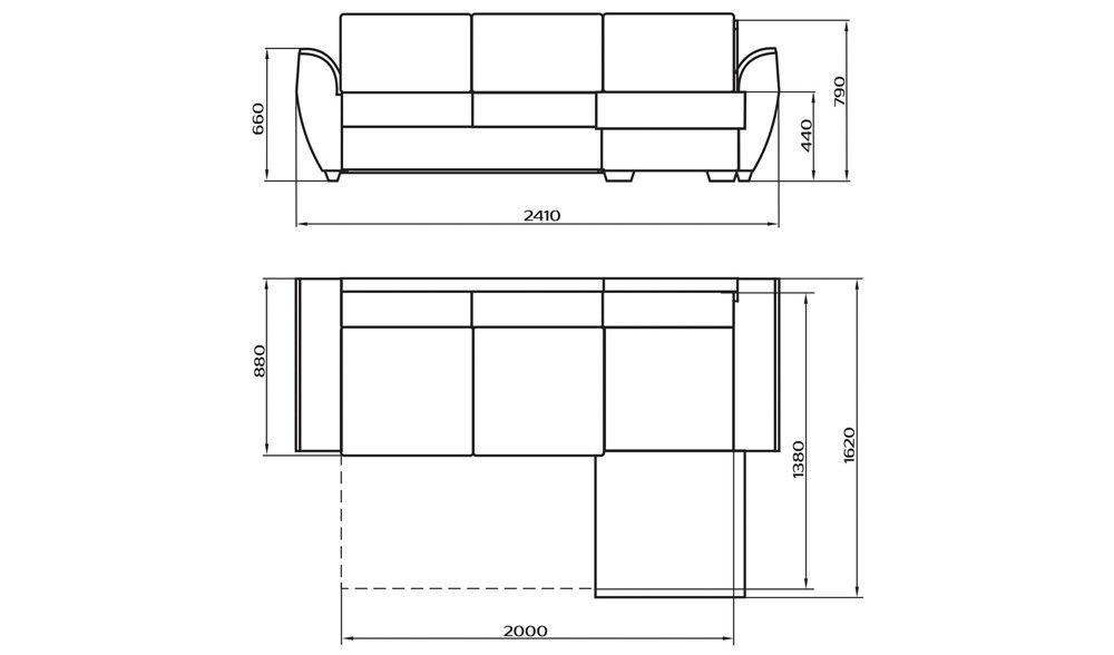 Диван LAMA мебель Дельфин 4 (угловой) - фото 4