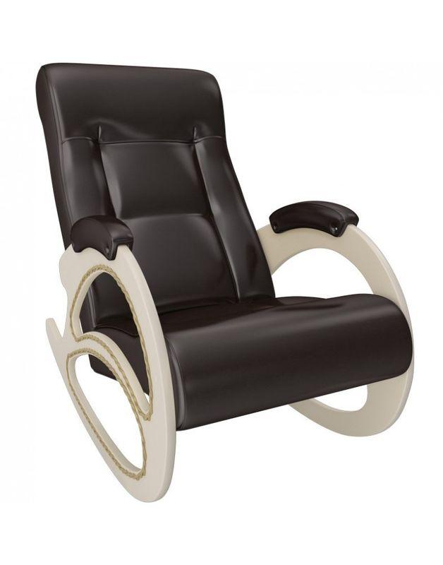 Кресло Impex Модель 4 экокожа сливочный (dundi 109) - фото 3