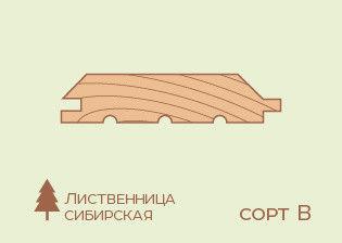 Имитация бруса Лиственница 20*185*6000, сорт Норма - фото 1