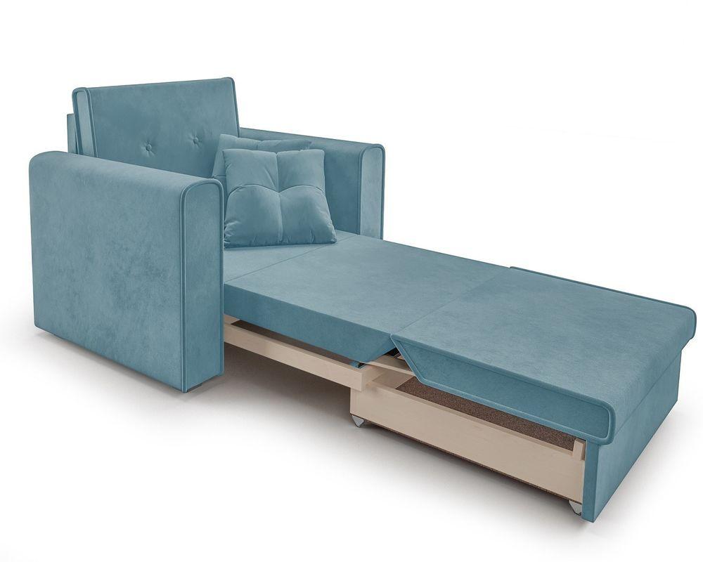 Кресло Мебель-АРС Санта (велюр голубой - Luna 089) - фото 8