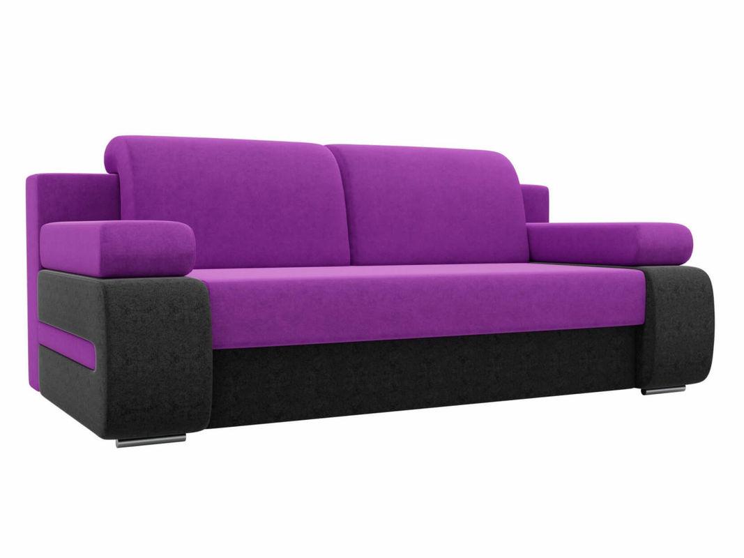 Диван ЛигаДиванов Денвер вельвет фиолетовый/черный - фото 1