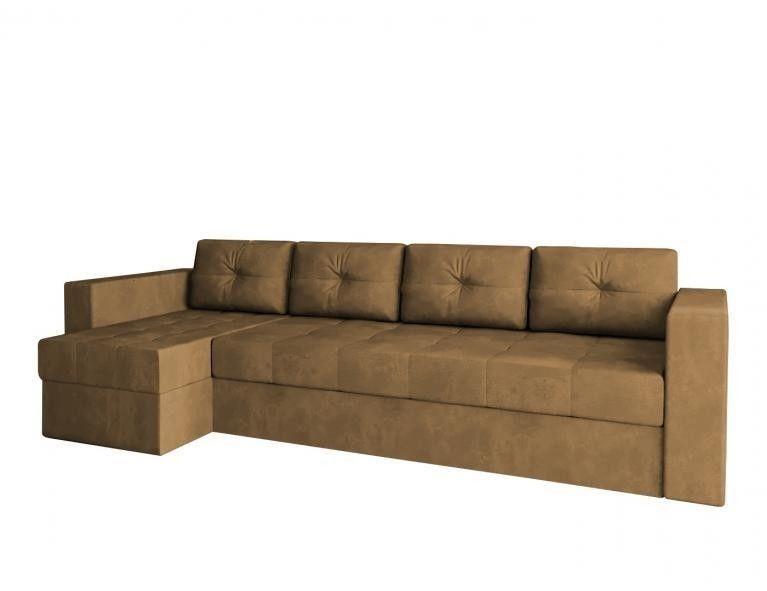 Диван Craftmebel Угловой Константин макси коричневый вельвет - фото 1