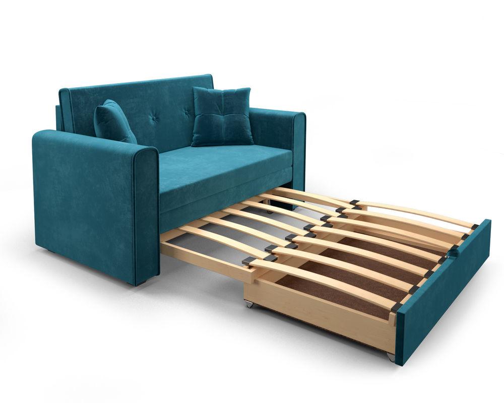 Диван Мебель-АРС Санта (бархат сине-зеленый  STAR VELVET 43 BLACK GREEN) - фото 5