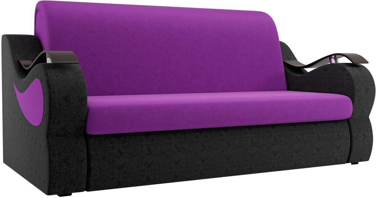 Диван Mebelico Меркурий 222 140,вельвет фиолетовый/черный - фото 3