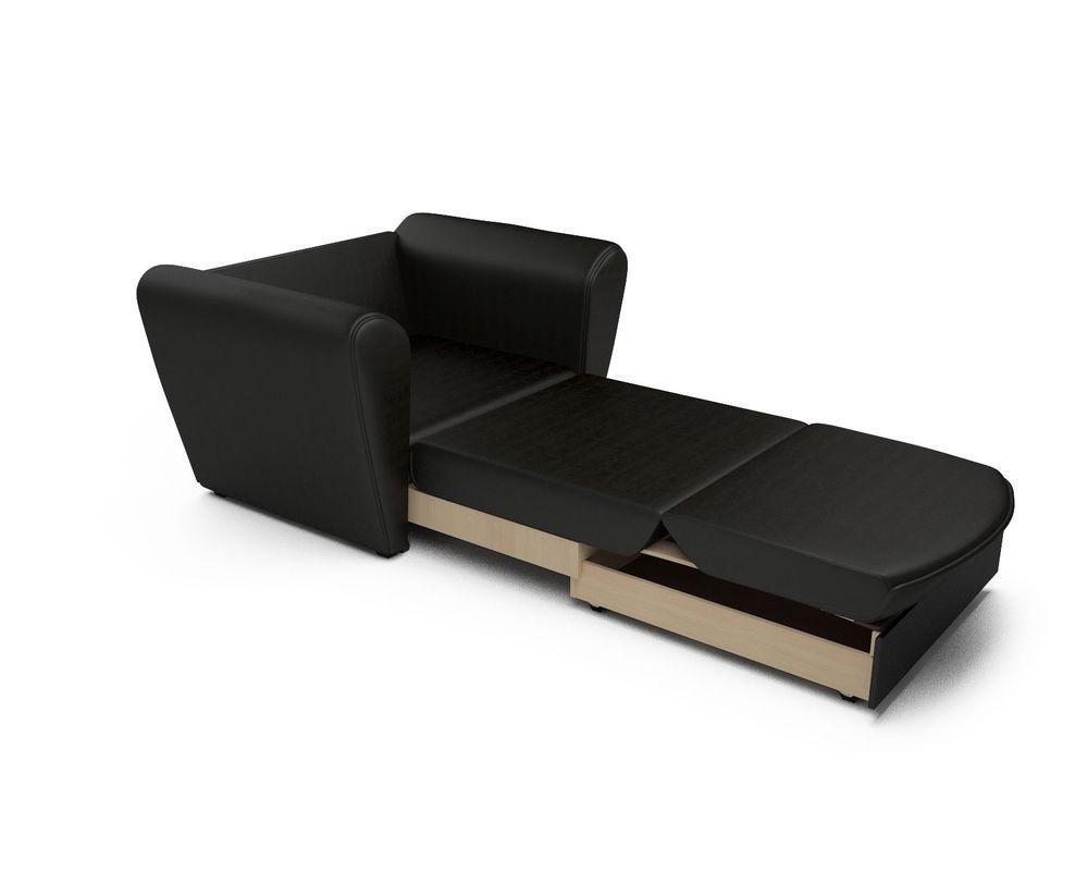 Кресло Мебель-АРС Квартет - экокожа черная - фото 7