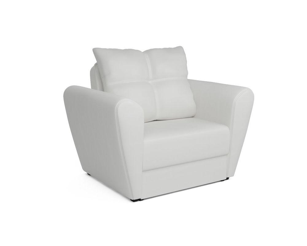 Кресло Мебель-АРС Квартет - экокожа белая - фото 1