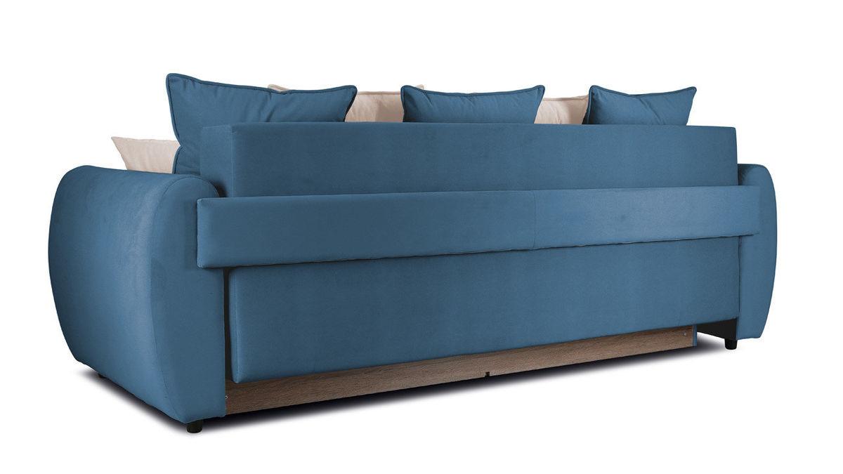 Диван ТриЯ «Бернард» (Beauty 07 (велюр), синий подушка Beauty 02 (велюр), капучино) - фото 3