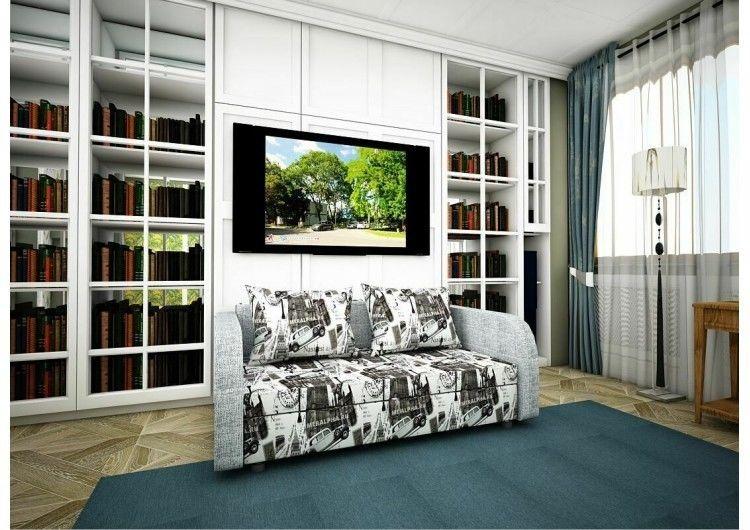 Диван Раевская мебельная фабрика Малыш с подлокотниками рогожка+микровелюр 00629 - фото 1