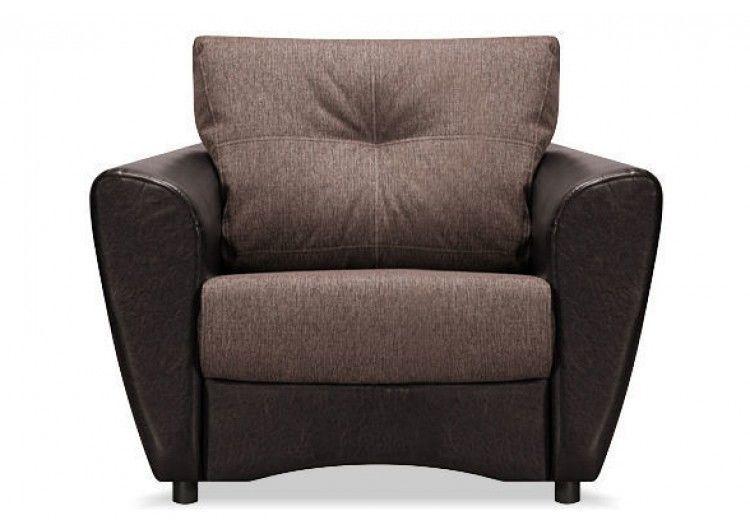 Кресло Луховицкая мебельная фабрика Амстердам коричневое - фото 1