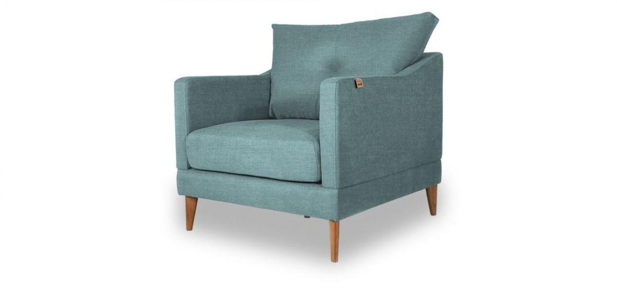 Кресло WOWIN Полар (Бледно-васильковая рогожка) - фото 1