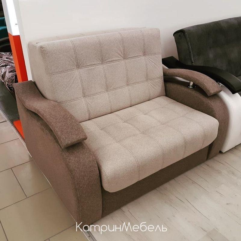 Диван DM-мебель Поло-2 прямой (бежевый/коричневый) - фото 2