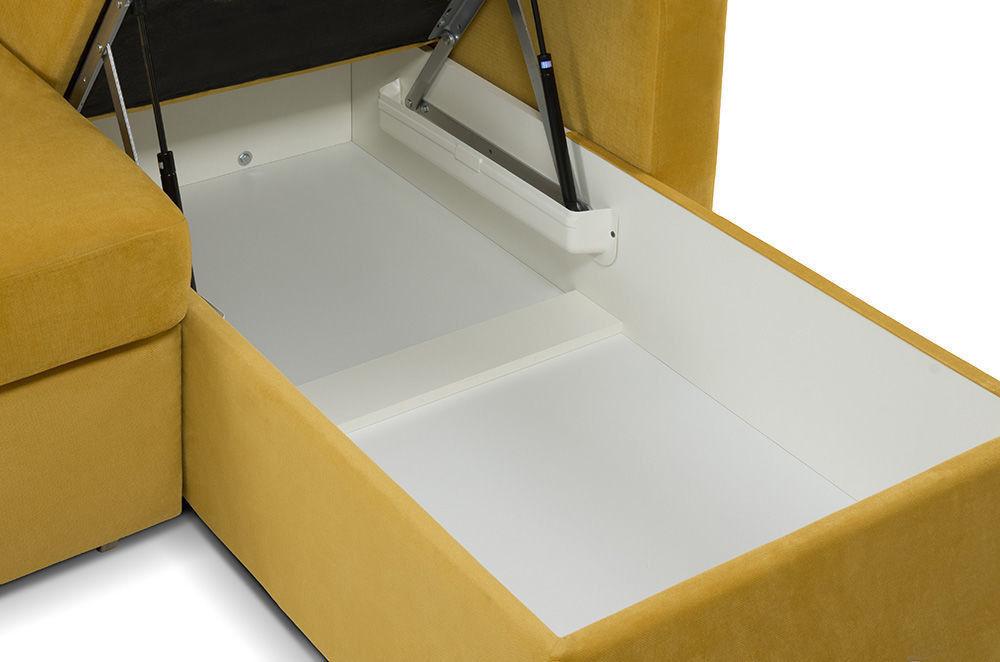 Диван Woodcraft Модульный Гувер-2 Velvet Yellow (уцененный) - фото 25