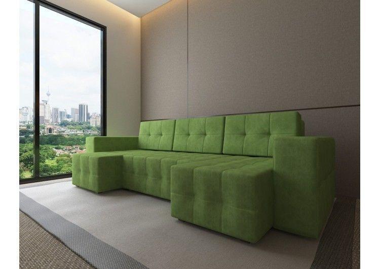 Диван Настоящая мебель Константин Питсбург П-образный зеленый - фото 1