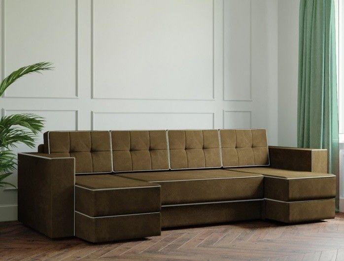 Диван Настоящая мебель Ванкувер Модерн (модель: 00-00000046) коричневый - фото 1