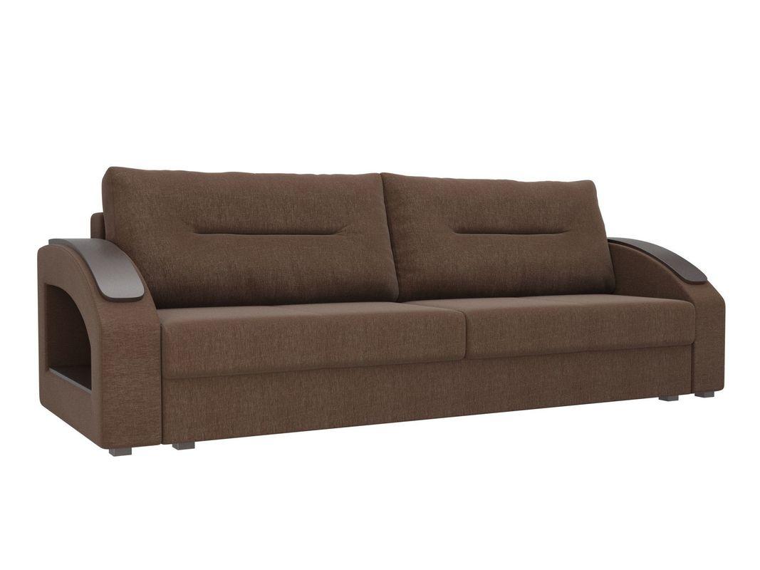 Диван ЛигаДиванов Канзас 100965 рогожка коричневый - фото 1