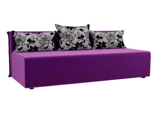 Диван ЛигаДиванов Кесада 101793 микровельвет фиолетовый - фото 1