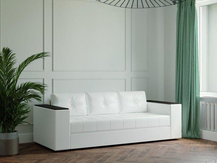 Диван Настоящая мебель Ванкувер Лайт с декором (белый) - фото 1