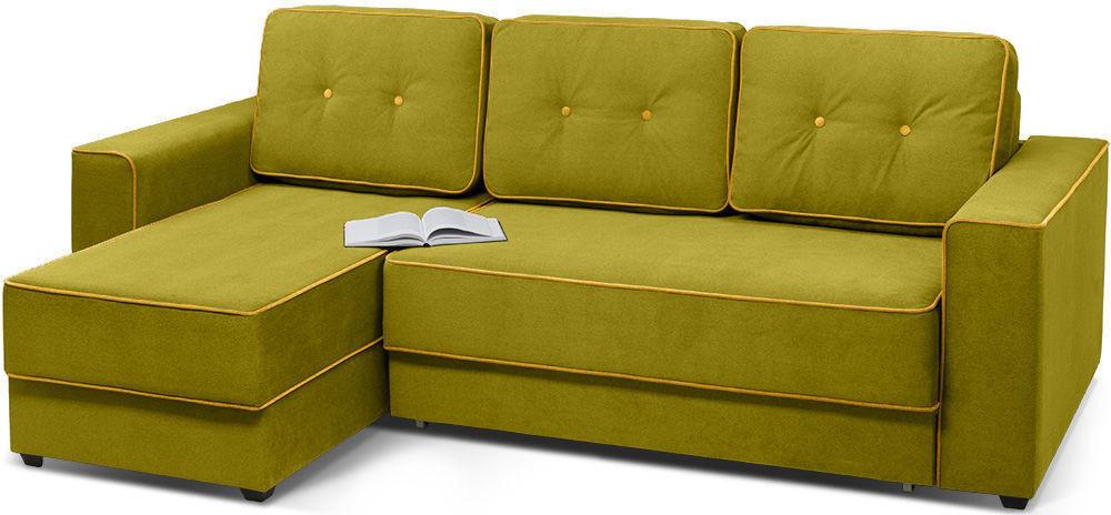 Диван Woodcraft Менли угловой НПБ Velvet Lime - фото 2