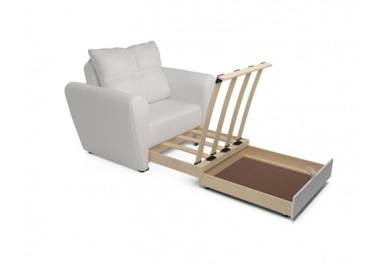 Кресло Craftmebel Квартет - экокожа белая - фото 4