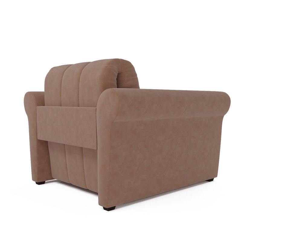 Кресло Мебель-АРС Гранд бежевый микровелюр (Luna 061) - фото 4