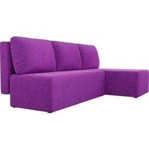 Диван АртМебель Поло угол правый микровельвет фиолетовый - фото 5