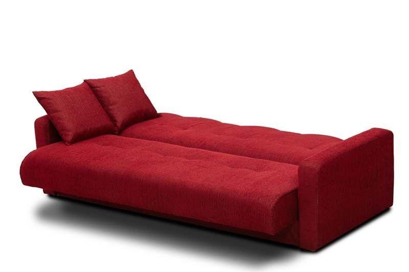 Диван Луховицкая мебельная фабрика Милан 120х190 гобелен/шенилл красный - фото 4