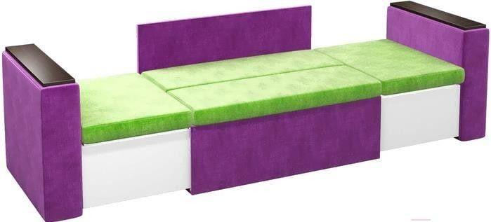 Диван Mebelico Арси 2 микровельв. фиолетовый/зеленый - фото 5