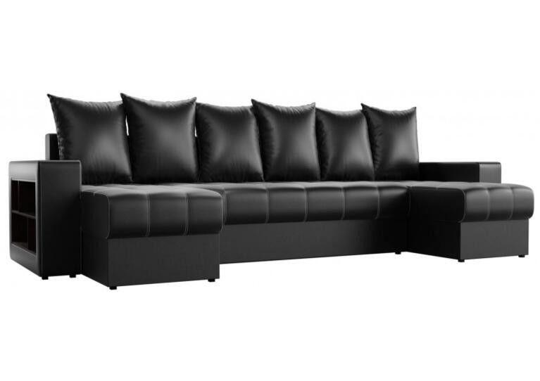 Диван Craftmebel Дубай П-образный чёрная экокожа - фото 3