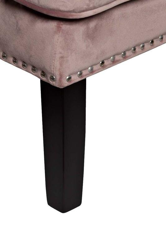 Кресло Garda Decor 24YJ-7004-06418/1 (велюровое дымчато-розовое с подушкой) - фото 4