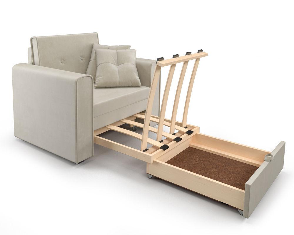 Кресло Мебель-АРС Санта (бархат бежевый) - фото 7