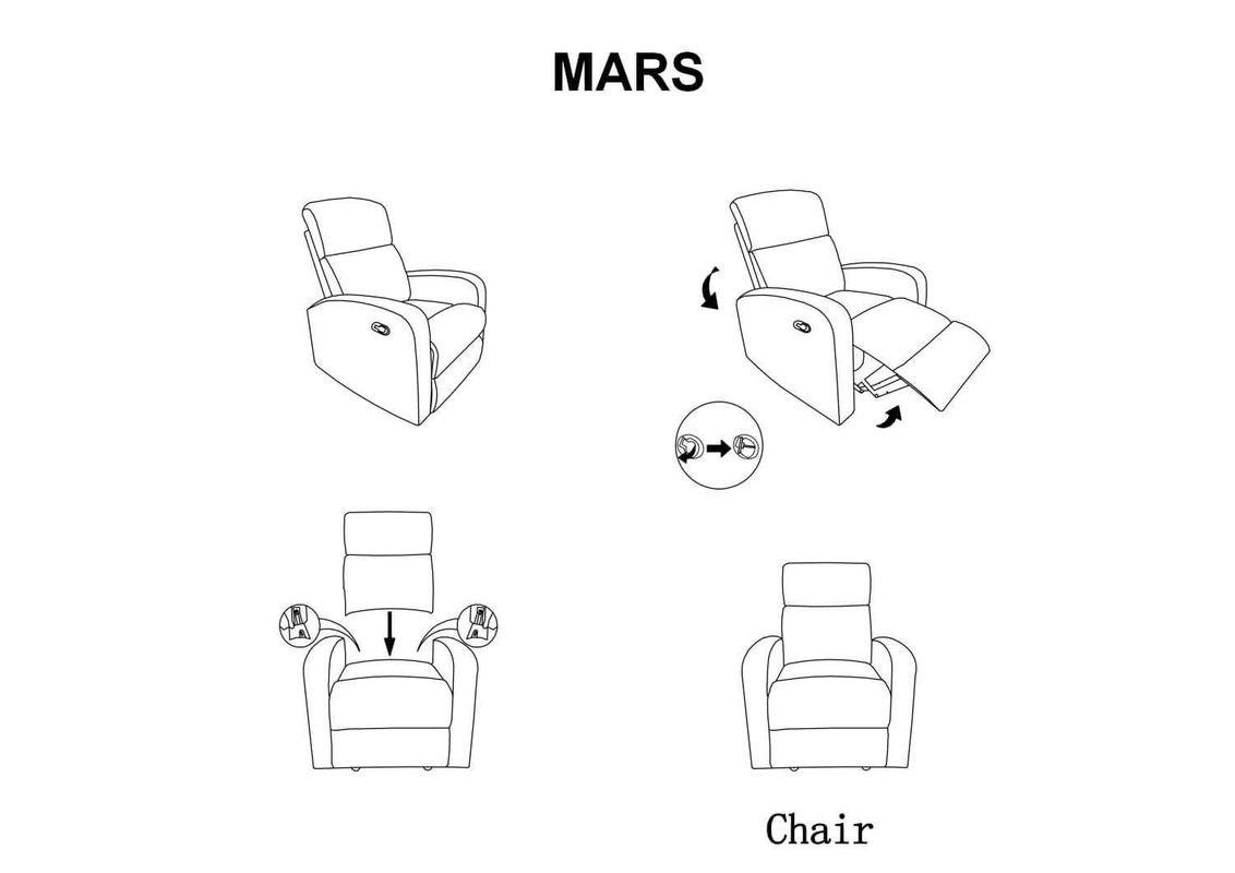 Кресло Signal MARS (серый) MARSSZ - фото 2