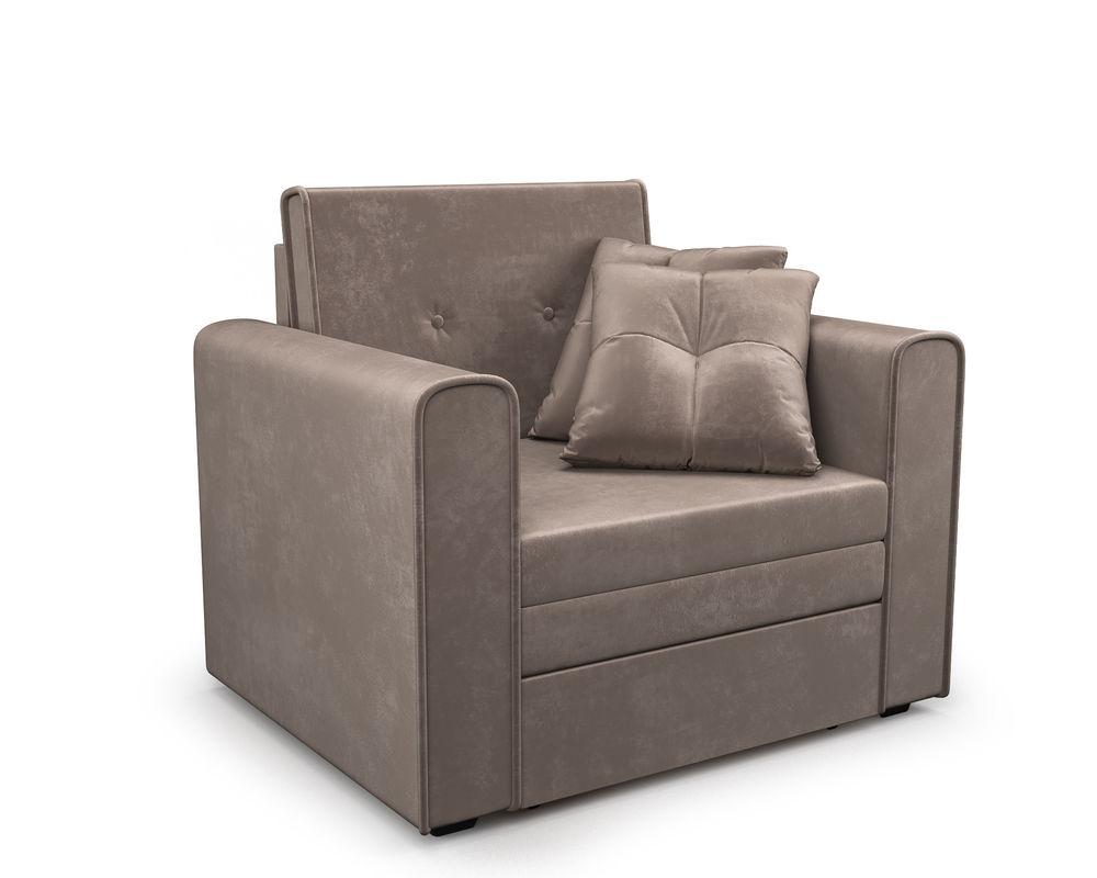 Кресло Мебель-АРС Санта (бархат серо-шоколадный) - фото 1