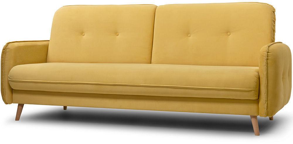 Диван Woodcraft Стаус Velvet Yellow - фото 3