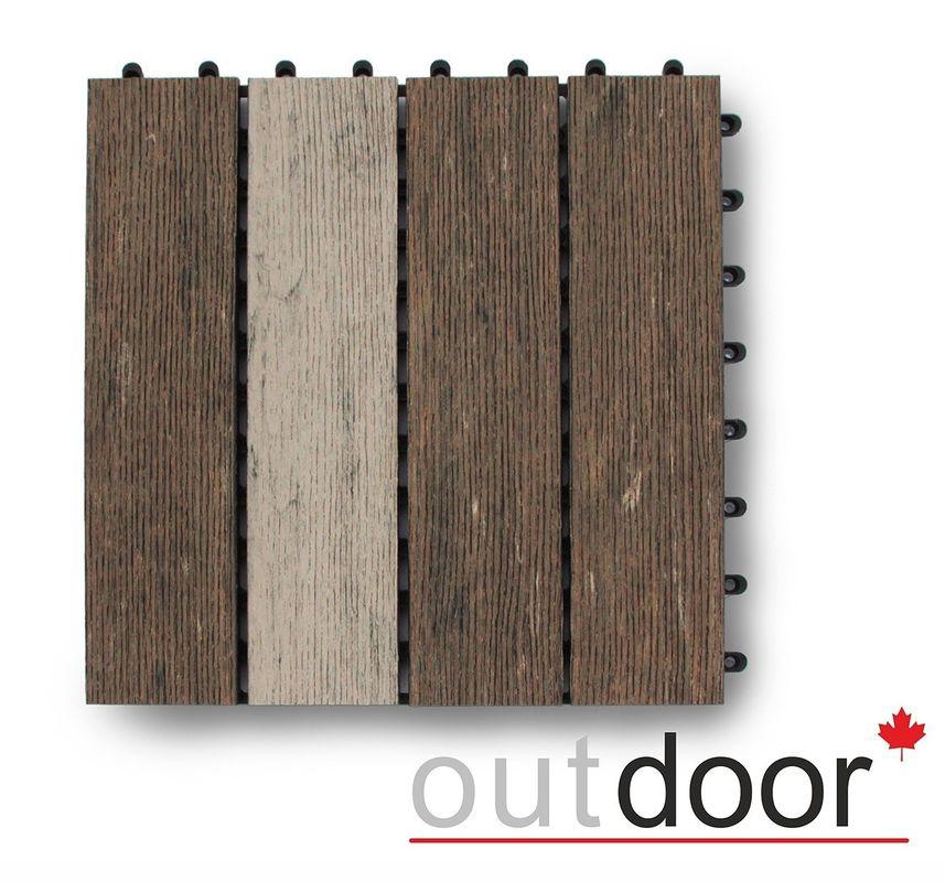 Декинг Outdoor ДПК 300x300x22мм Multibrown (DPK-1404) - фото 1