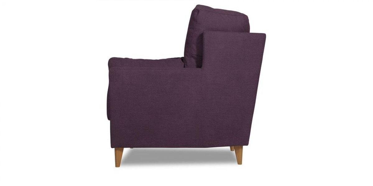 Кресло WOWIN Хюгге (Темно-фиолетовый велюр) - фото 3