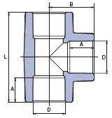 Фитинг для труб Wavin Ekoplastik Тройник STK032XXXX - фото 2