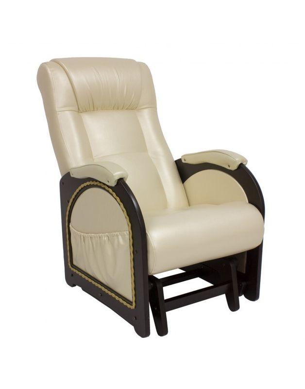 Кресло Impex Кресло-гляйдер Модель 48 экокожа (Антик-крокодил) - фото 4
