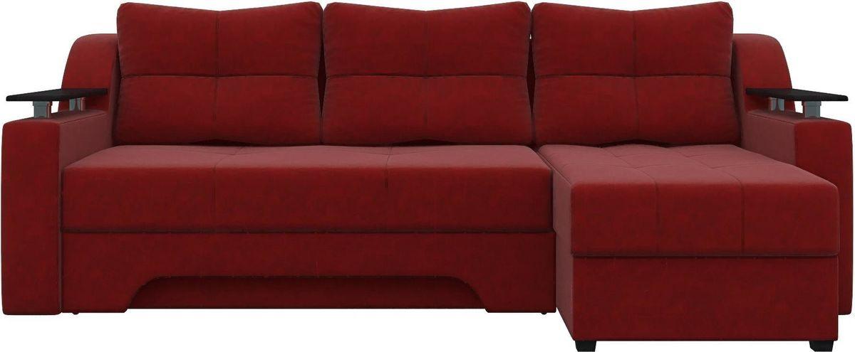 Диван Mebelico Сенатор 145 правый 57905 вельвет красный - фото 2