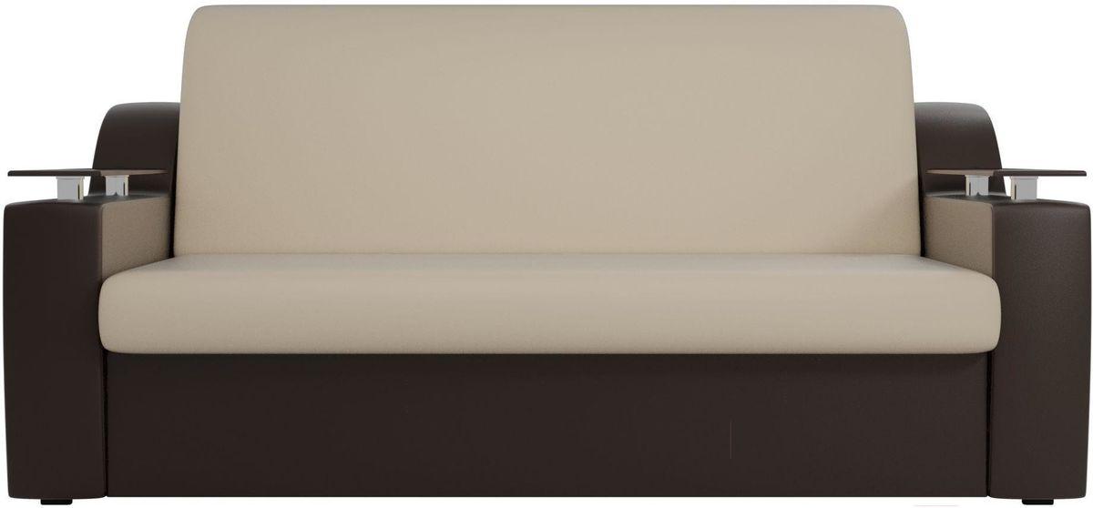 Диван Mebelico Сенатор 100723 160, экокожа бежевый/коричневый - фото 1