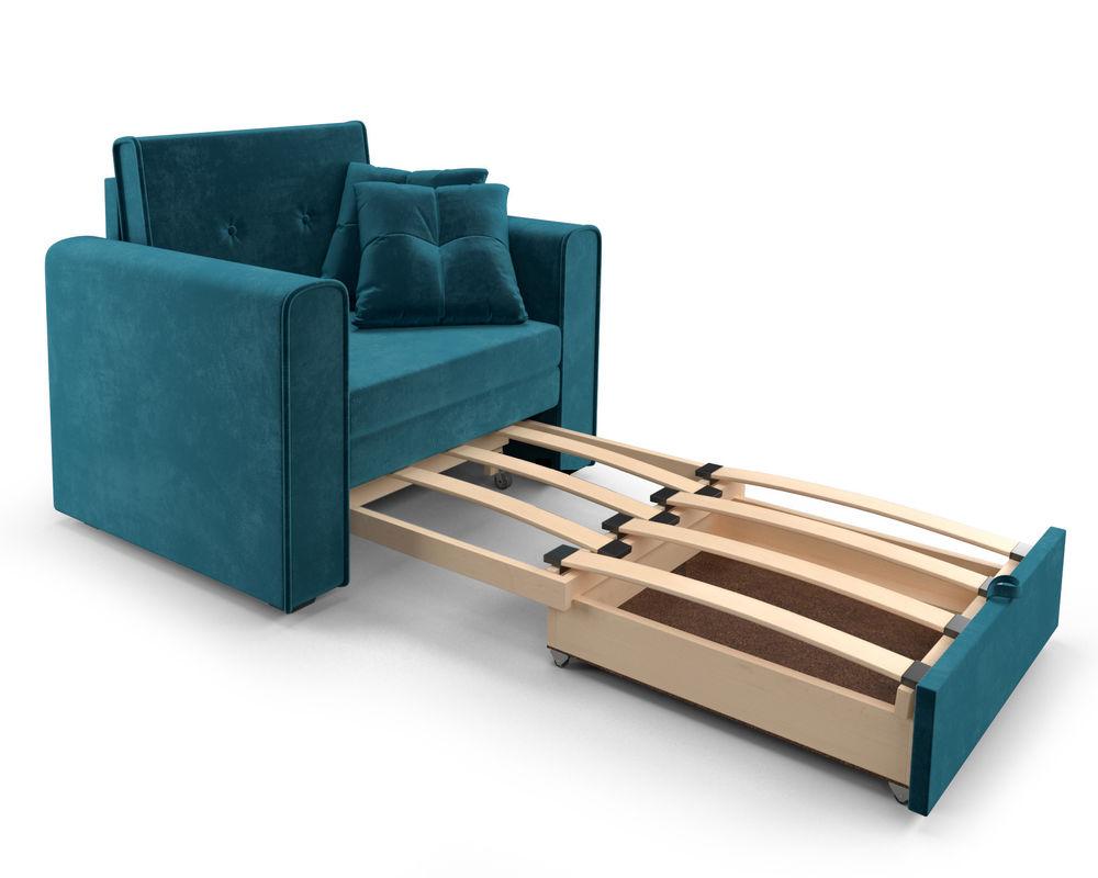 Кресло Мебель-АРС Санта (бархат сине-зеленый) - фото 6