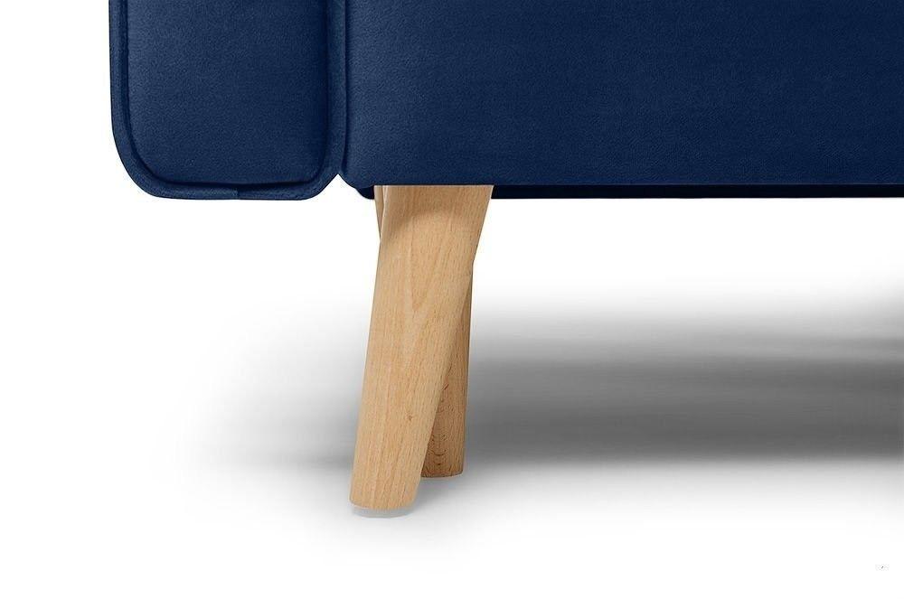 Диван Woodcraft прямой Верона Barhat Blue - фото 8