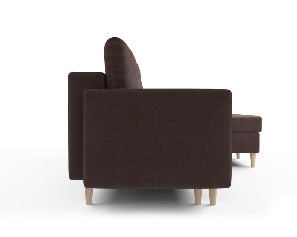 Диван Мебель-АРС Белфаст (велюр молочный шоколад / НВ-178/13) - фото 3