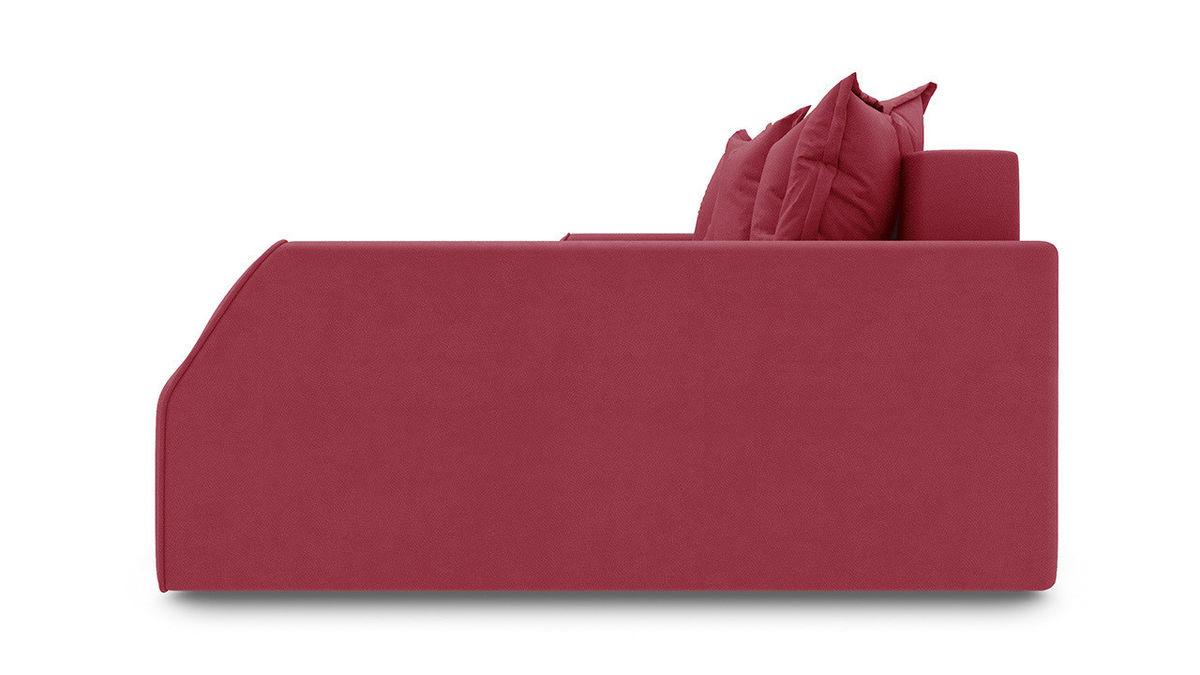 Диван ТриЯ правый «Люксор Slim Т2» (Maserati 14 (велюр), бордовый) - фото 3
